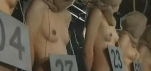 【閲覧注意】牢屋の中で番号札を付け麻袋を被せられた敵国女性奴隷たちが宙吊り陵辱SEX・・・!【SM無料動画】