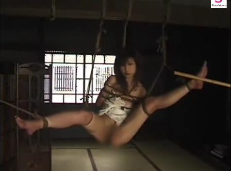 緊縛拘束されて吊るされた妖艶な巨乳美女!(杉浦則夫緊縛桟敷)【SM無料動画】
