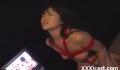 エロ動画を見せられながら緊縛放置された美少女が涎をダラダラ垂らしてオナニーしながら悶絶!【SMエロ動画】