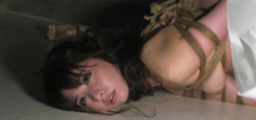 【晶エリー】緊縛放置されてうごめく美女。(杉浦則夫緊縛桟敷)【SMエロ動画】