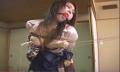 緊縛口枷つけて吊るされたM女が洗濯バサミ責めに涎を垂らしながら悶絶!【SMエロ動画】