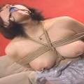 緊縛口枷つけたドMな人妻に平手打ち・乳首つねり・乳首オモリ責め・バイブ責めマゾ調教!【SMエロ動画】