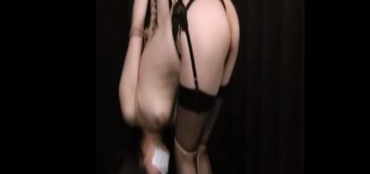 手足拘束猿轡されたセクシー下着のOLが緊縛拘束されて悶える放置プレイ!【SMエロ動画】